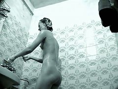 Cute And Slender Indian Girl In The Shower Room On Cam