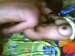 Lucky Hubby Enjoys His Submissive Young Desi Wife On The Bed