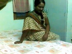 Delightful Indian Aunty Drilled By Mature Boyfrend On Hidden Livecam