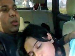 Desi Girl Handob In Car