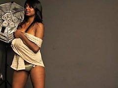 Dark Skin Charmign Tantric Indian Babe Gauri In Nude Nuvid