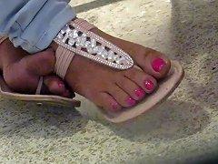Mature Indian Sandal Cross