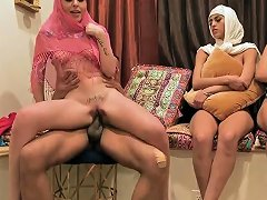 Man Striper Party And These Two Hot Arab Dolls Attempt Fours Nuvid