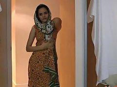 Indian Sexy Beautiful Babe Jasmine Takes Off Her Bra