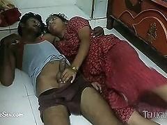 Hot Telugu Wife Nitya Seducing Her Husband Sex On The Floor